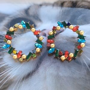 Colorful crystals earrings